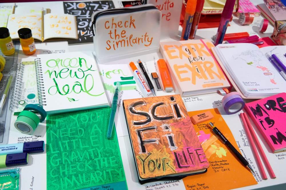 Der gestalterische Umgang mit Typografien stellte einen weiteren Schwerpunkt dar. Abbildung: Messe Frankfurt Exhibition GmbH