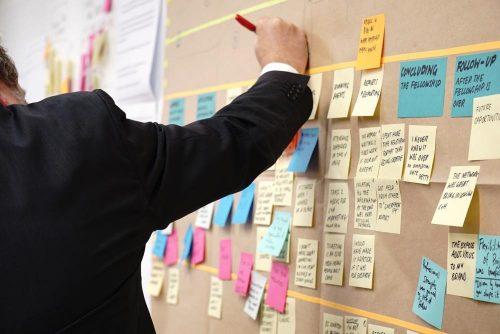 Im Workshop die Meinungen visualisieren: Post-its sind das Mittel der Wahl. Abbildung: Jo Szczepanska, Unsplash