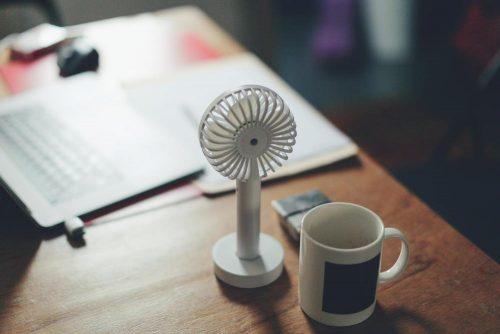 Bei großer Hitze müssen Massnahmen zur Abkühlung getroffen werden. Ventilatoren in dieser Größe reichen nicht aus. Abbildung: Siniz Kim, Unsplash